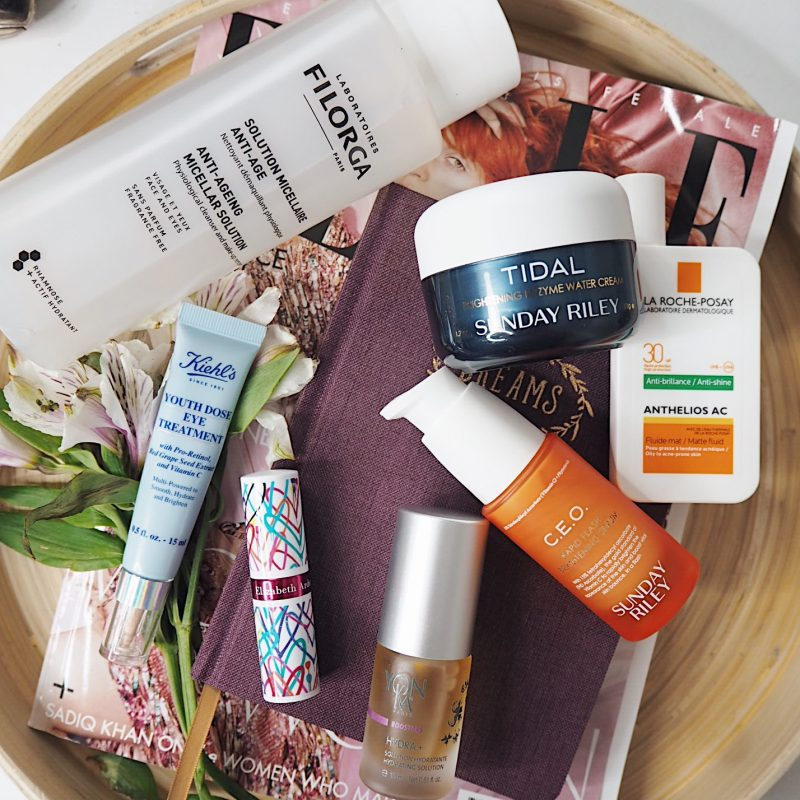 skin care routine elizabeth arden sunday riley filorga kiehls yonka