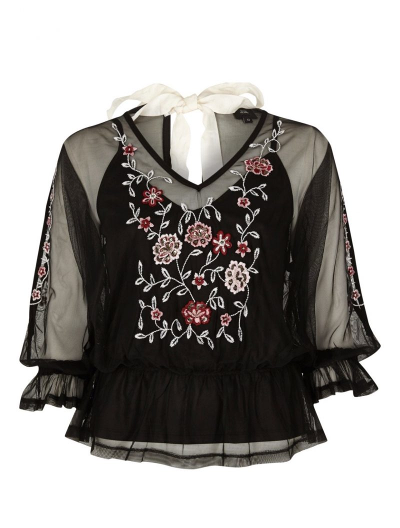 river island embroidered top