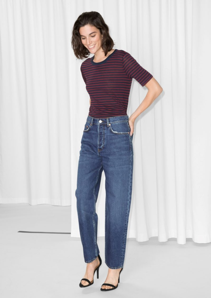 and other stories loose leg denim jeans