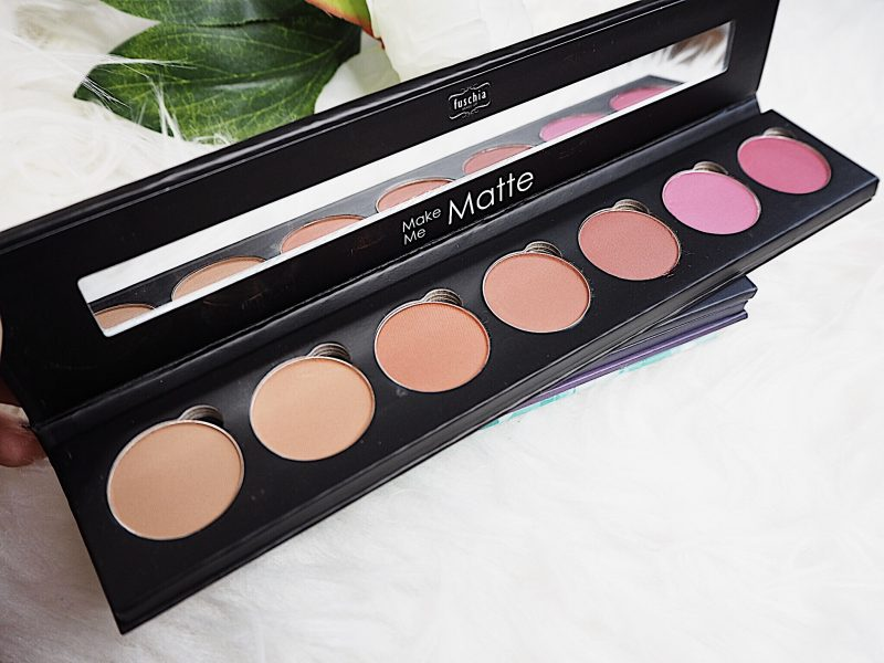 fuschia make me matte eyeshadow palette