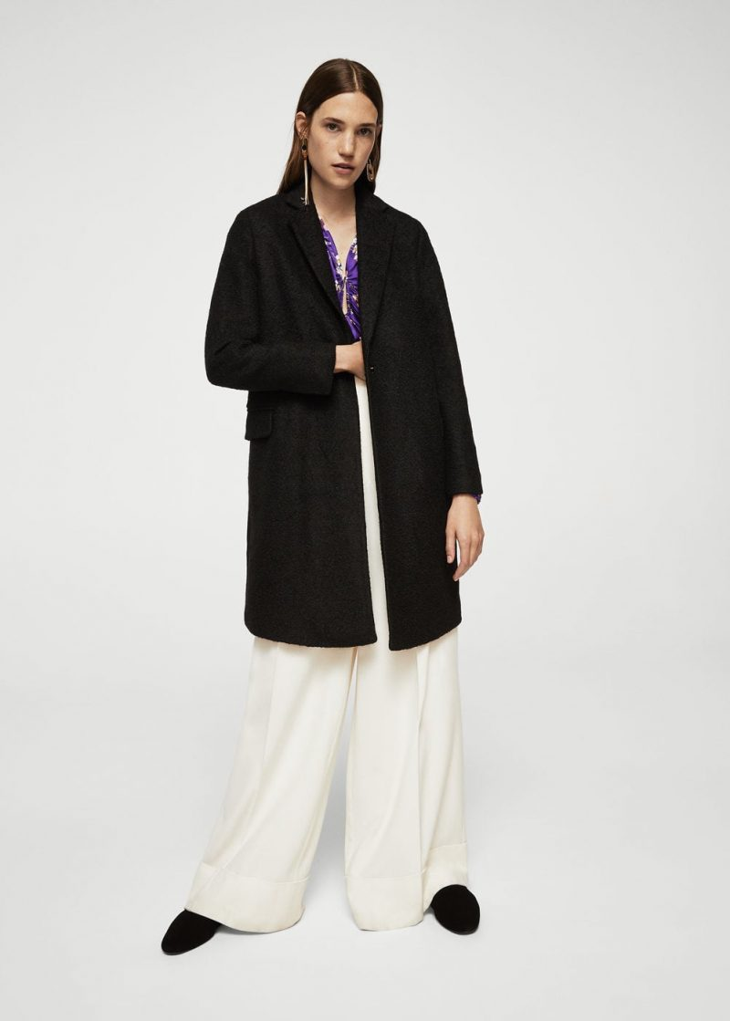 cyber monday mango black coat