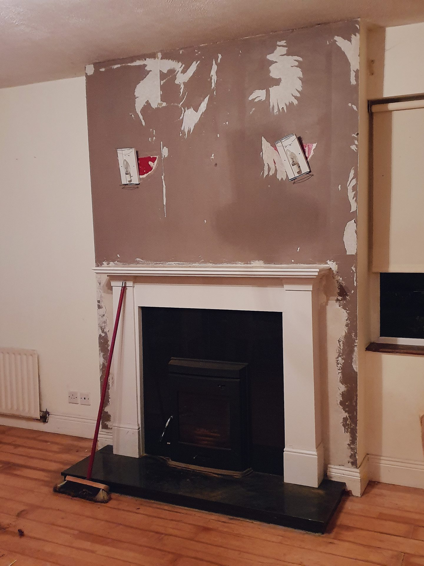 diy living room renovation before