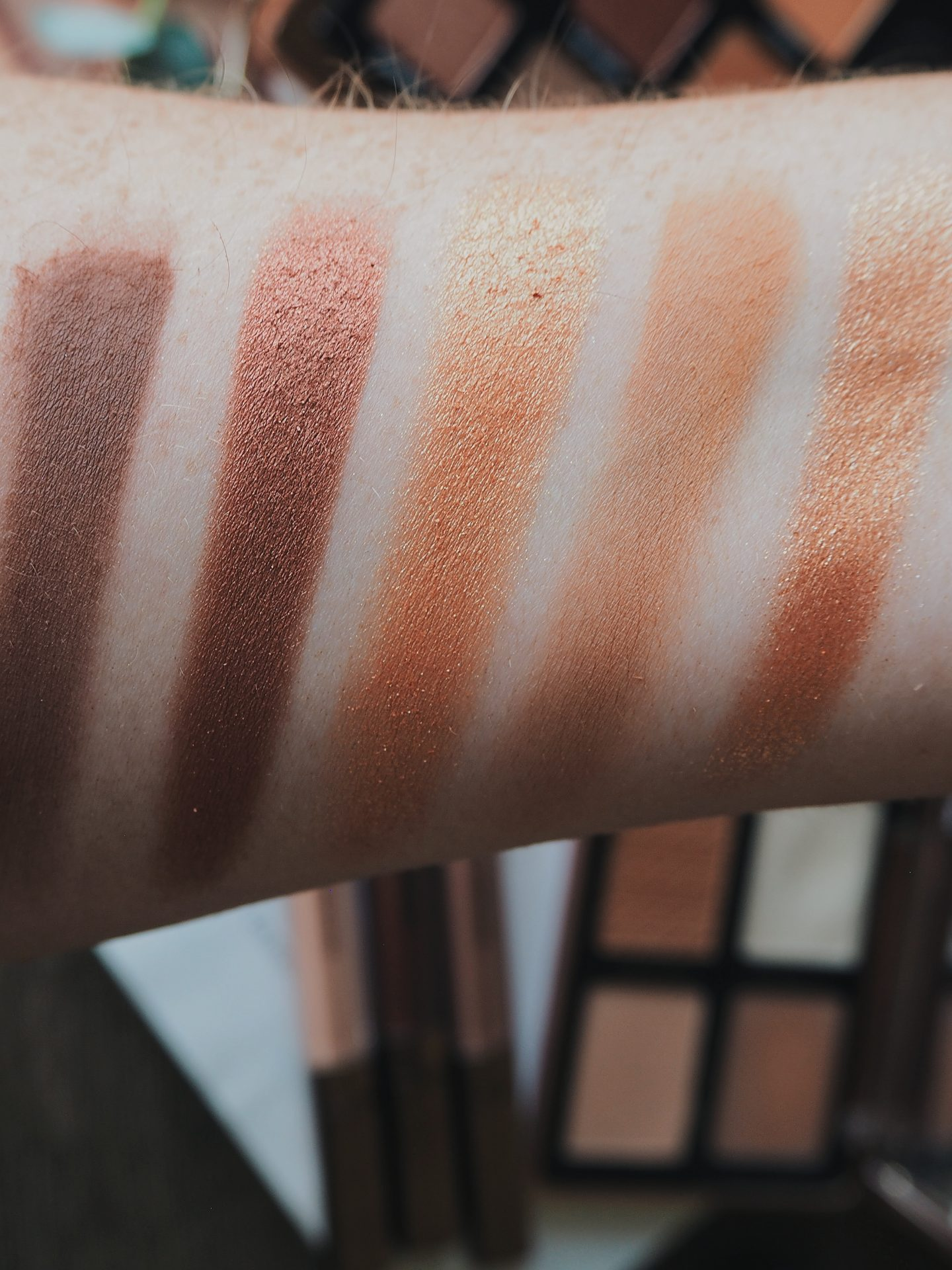 natasha denona bronze palette swatches review