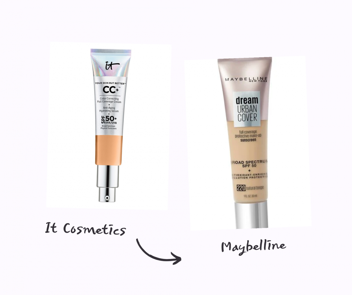 it cosmetics cc cream dupe